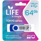USB Flash 64Gb Life Tokyo синяя