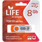 USB Flash 8Gb Life Tokyo оранжевая