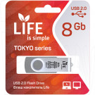 USB Flash 8Gb Life Tokyo серебряная
