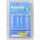 Аккумуляторы Rakieta HR6 2700mAh NiMH BL4 AA в упаковке 4 шт