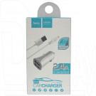 Автомобильная зарядка Hoco. Z12 + кабель iPhone 5