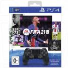 Комплект PS4: Джойстик DualShock + FIFA21 + 14 дней