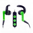 Гарнитура Perfeo Run-Up Bluetooth черно-зеленая