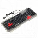 Клавиатура игровая Xtrike Me KB-501 металл с подсветкой
