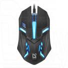 Мышь Defender MB-550 Hit USB черная с подсветкой