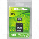 microSD 2Gb OltraMax с адаптером