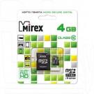 microSD 4Gb Mirex Class 10 с адаптером