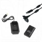 Зарядка Play & Charge Kit 4-in-1 XBOX 360 Slim (1 аккум+кабель+док.станция)