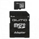 microSD 4Gb Qumo с адаптером