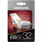 microSDHC 32Gb Samsung Class 10 Evo Plus UHS-I U1 с адаптером