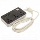 СЕТЕВОЙ ФИЛЬТР LDNIO SC3604 (3 евро розетки, 2 м) 6 USB,