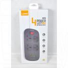 Сетевой фильтр LDNIO SC4407Q (4 розетки, 2 м) 4 USB +QC, выкл. на розетки черный