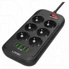 Сетевой фильтр LDNIO SE6403 (4 розетки, 2 м) 4 USB
