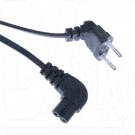 Универсальный сетевой кабель Qumann 1,8 м угловой