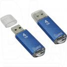 USB Flash 4Gb Smart Buy V-Cut синяя