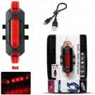 Велосипедный фонарь аккумуляторный YZ-1259 (4 режима) красный