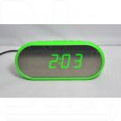 VST 712Y-4 часы настольные с ярко-зелеными цифрами