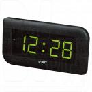 VST 739-2 часы настенные с зелеными цифрами
