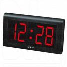 VST 795-1 часы настенные с красными цифрами