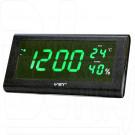 VST 795S-4 часы настенные с ярко-зелеными цифрами
